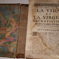 Libros antiguos: LA VIDA DE LA VIRGEN SACRATISSIMA - 1770. Lote 71589311