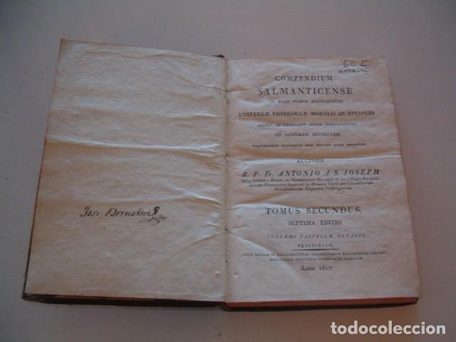 Libros antiguos: R. P. FR. ANTONIO A S. JOSEPH. Compendium Salmanticense. Tomus Secundus. RM78236. - Foto 2 - 71796931