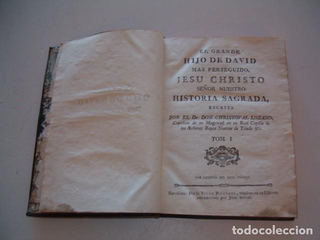 Libros antiguos: El Grande Hijo de David Más Perseguido, Jesu Christo Nuestro Señor. Tomos I, II y III. RM78336. - Foto 3 - 72218731