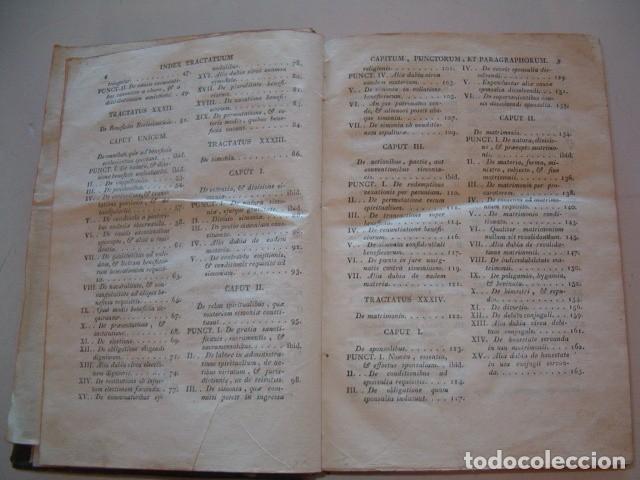 Libros antiguos: R. P. FR. ANTONIO A S. JOSEPH. Compendium Salmanticense in tres tomos. Tomus Tertius. RM78339. - Foto 4 - 72219279