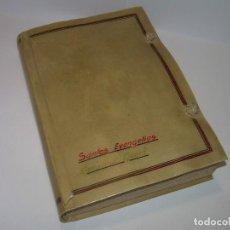 Libros antiguos: ANTIGUO LIBRO TAPAS DE PERGAMINO...LOS SANTOS EVANGELIOS.. Lote 72395607