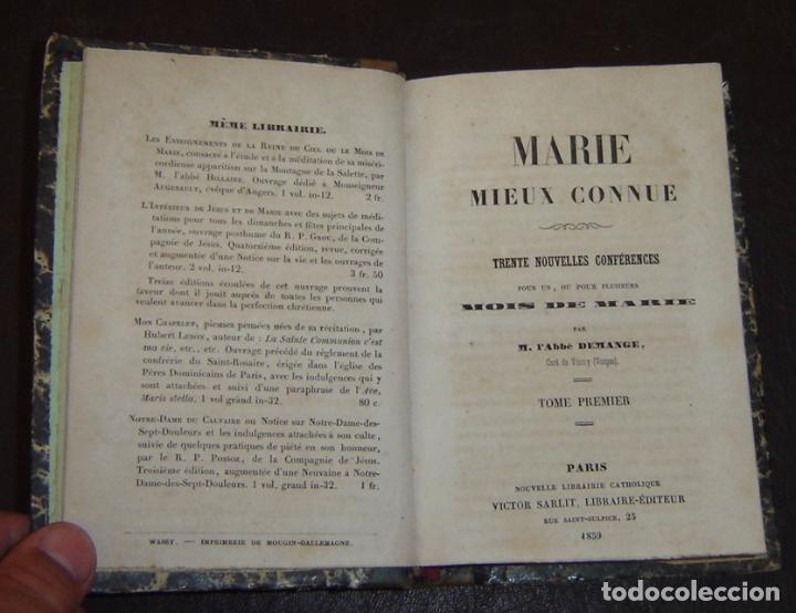 Libros antiguos: MOIS DE MARIE PAR L'ABBÉ DEMANGE - TOME 1 - Paris 1859 - Foto 3 - 72753607