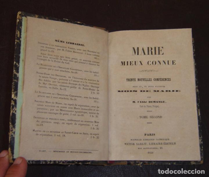 Libros antiguos: MOIS DE MARIE PAR L'ABBÉ DEMANGE - TOME 2 - Paris 1859 - Foto 3 - 72753747