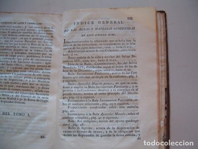 Libros antiguos: Colección en Latín y Castellano de las Bulas del Santísimo Padre Benedicto XIV. TRES TOMOS. RM78422. - Foto 3 - 73437823