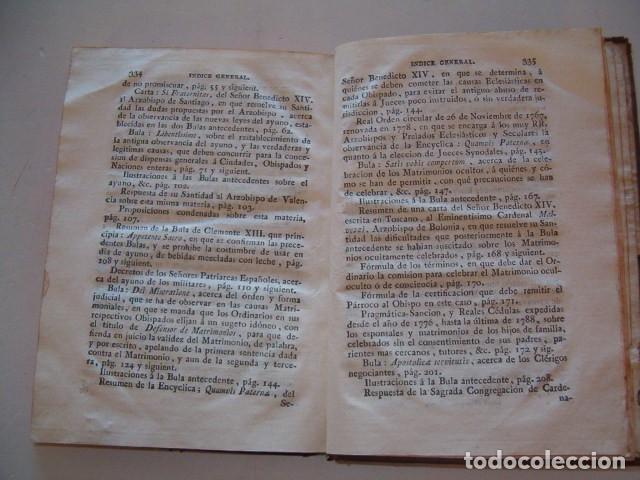 Libros antiguos: Colección en Latín y Castellano de las Bulas del Santísimo Padre Benedicto XIV. TRES TOMOS. RM78422. - Foto 4 - 73437823