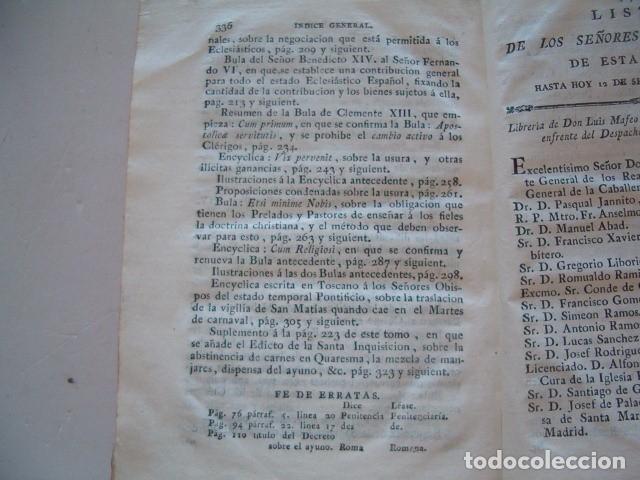 Libros antiguos: Colección en Latín y Castellano de las Bulas del Santísimo Padre Benedicto XIV. TRES TOMOS. RM78422. - Foto 5 - 73437823