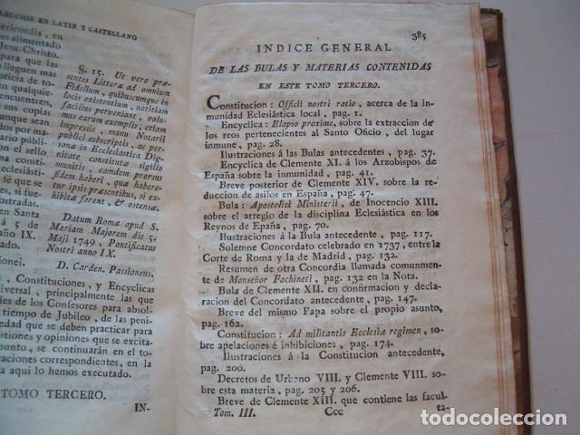 Libros antiguos: Colección en Latín y Castellano de las Bulas del Santísimo Padre Benedicto XIV. TRES TOMOS. RM78422. - Foto 6 - 73437823