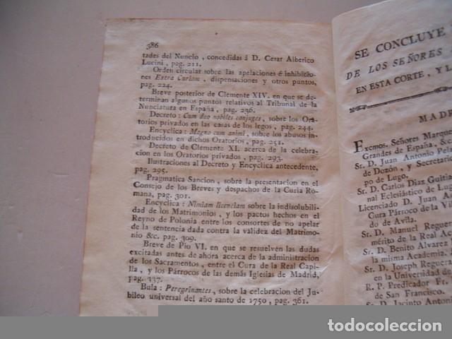 Libros antiguos: Colección en Latín y Castellano de las Bulas del Santísimo Padre Benedicto XIV. TRES TOMOS. RM78422. - Foto 7 - 73437823