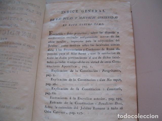 Libros antiguos: Colección en Latín y Castellano de las Bulas del Santísimo Padre Benedicto XIV. TRES TOMOS. RM78422. - Foto 8 - 73437823