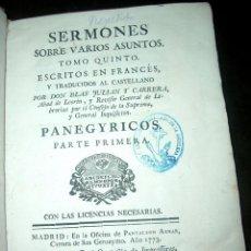 Libros antiguos: SERMONES SOBRE VARIOS ASUNTOS, TOMO V .LT2. Lote 73631083
