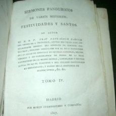Libros antiguos: SERMONES PANEGIRICOS DE VARIOS MISTERIOS, FESTIVIDADES Y SANTOS.LT2. Lote 73636495