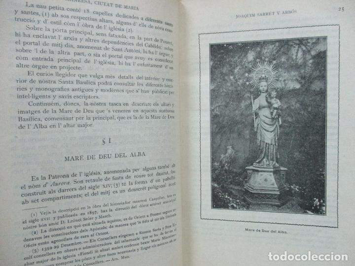 Libros antiguos: MANRESA, CIUTAT DE MARIA. JOAQUIM SARRET Y ARBÓS. - Foto 3 - 74560775