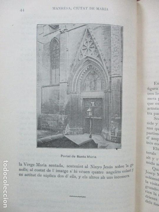 Libros antiguos: MANRESA, CIUTAT DE MARIA. JOAQUIM SARRET Y ARBÓS. - Foto 4 - 74560775