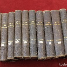 Libros antiguos: 12 TOMOS NOVISIMO AÑO CRISTIANO, POR JUAN CROISSET, 1862, IMPR. LUIS TASS0, BARCELONA. Lote 75250391
