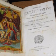 Alte Bücher - precioso devocionario eucologio romano 1870 cromolitografia misal lujoso encuadernado 4ª e llorens - 75698691