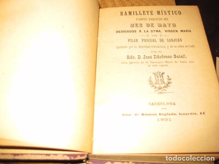 Libros antiguos: librito ramillete mistico . piadosos ejercicios del mes de mayo virgen maria . 1891 - Foto 2 - 75749799