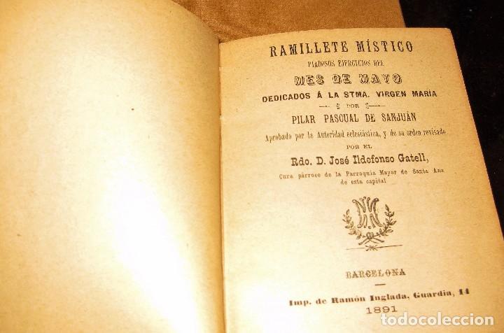 Libros antiguos: librito ramillete mistico . piadosos ejercicios del mes de mayo virgen maria . 1891 - Foto 3 - 75749799