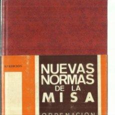 Libros antiguos: NUEVAS NORMAS DE LA MISA. J.Mª PATINO. . BILIOTECA DE AUTORES CRISTIANOS. MADRID. 1979. Lote 76224315