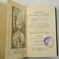 Libros antiguos: ARMONÍA DE LA RAZÓN Y LA RELIGIÓN, TEODORO ALMEYDA, TOMO 1. MADRID 1820, 11X18CM.. Lote 76479379