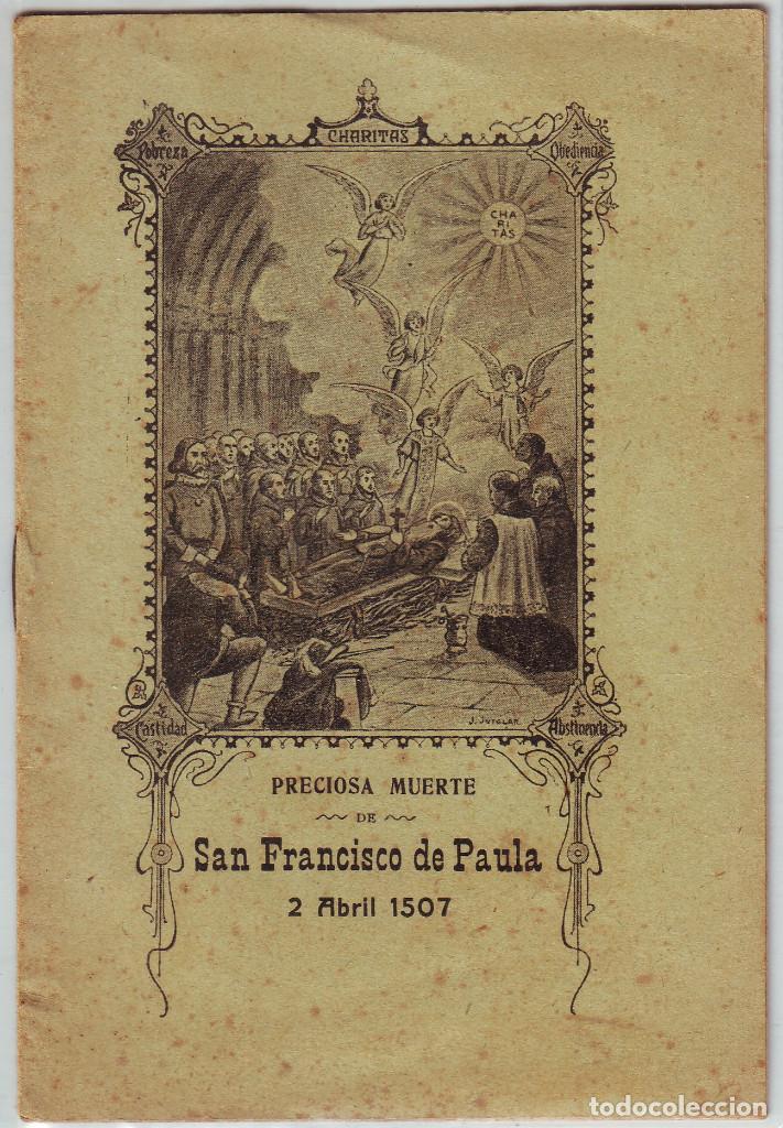 LT-062 PRECIOSA MUERTE SAN FRANCISCO DE PAULA 2 DE ABRIL 1507 (Libros Antiguos, Raros y Curiosos - Religión)