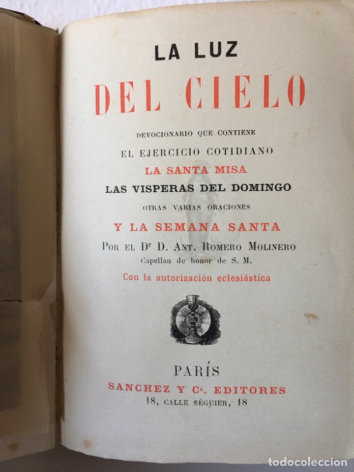 Libros antiguos: LIBRO RELIGIOSO- LA LUZ DEL CIELO- FINALES DEL SIGLO XIX - Foto 5 - 77635742