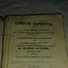 Libros antiguos: LIBRO ĆOMBATE ESPIRITUAL. Lote 77768605