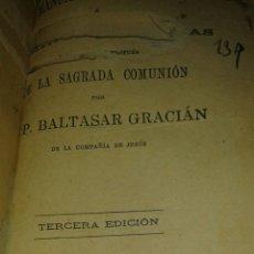Libros antiguos: LIBRO MANUAL EUCARÍSTICO. Lote 77783207