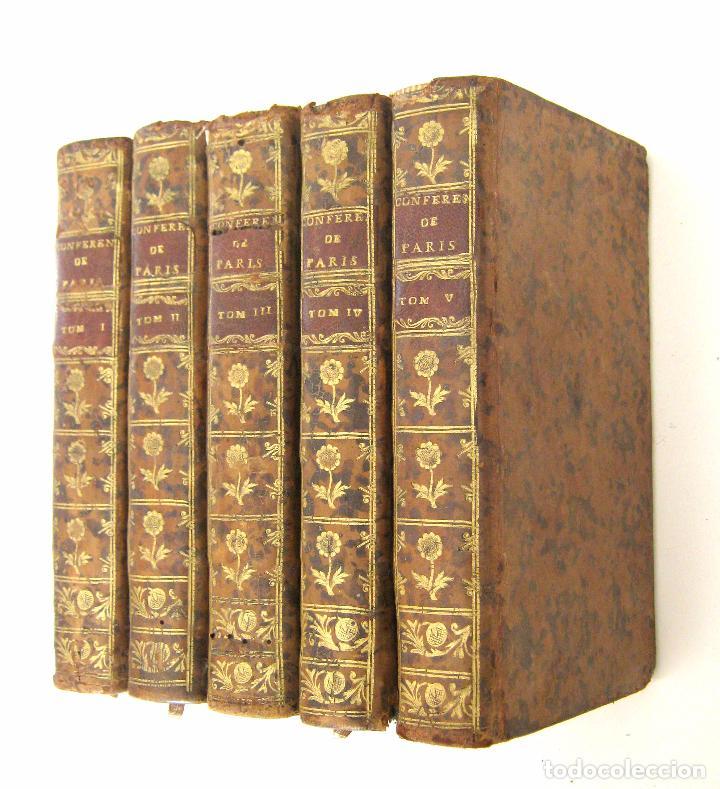 1756 - 5 TOMOS DEL SIGLO XVIII - JURISPRUDENCIA, MATRIMONIO, DERECHO CANÓNICO - LIBRO ANTIGUOS, PIEL (Libros Antiguos, Raros y Curiosos - Religión)