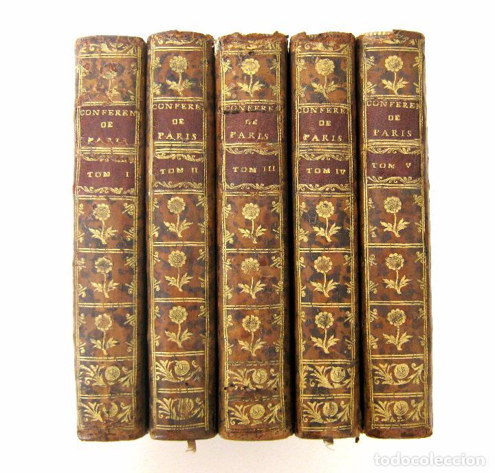 Libros antiguos: 1756 - 5 Tomos del Siglo XVIII - Jurisprudencia, Matrimonio, Derecho Canónico - Libro Antiguos, Piel - Foto 2 - 78252381