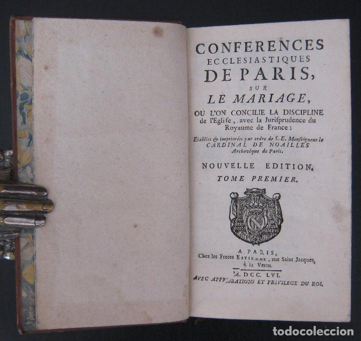 Libros antiguos: 1756 - 5 Tomos del Siglo XVIII - Jurisprudencia, Matrimonio, Derecho Canónico - Libro Antiguos, Piel - Foto 8 - 78252381