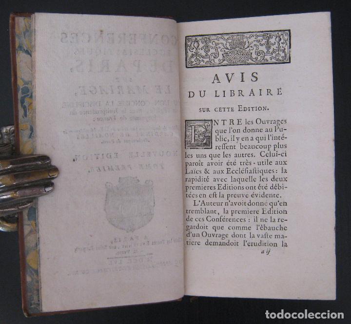 Libros antiguos: 1756 - 5 Tomos del Siglo XVIII - Jurisprudencia, Matrimonio, Derecho Canónico - Libro Antiguos, Piel - Foto 9 - 78252381