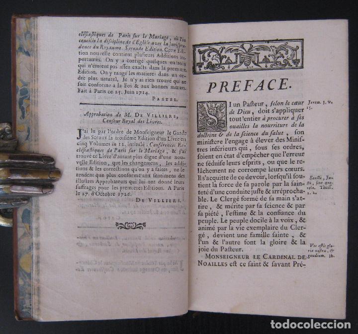 Libros antiguos: 1756 - 5 Tomos del Siglo XVIII - Jurisprudencia, Matrimonio, Derecho Canónico - Libro Antiguos, Piel - Foto 13 - 78252381