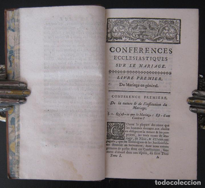Libros antiguos: 1756 - 5 Tomos del Siglo XVIII - Jurisprudencia, Matrimonio, Derecho Canónico - Libro Antiguos, Piel - Foto 14 - 78252381
