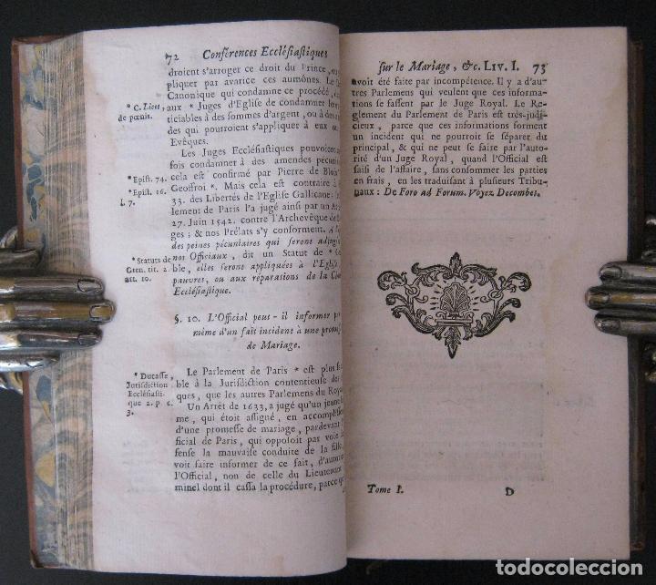 Libros antiguos: 1756 - 5 Tomos del Siglo XVIII - Jurisprudencia, Matrimonio, Derecho Canónico - Libro Antiguos, Piel - Foto 16 - 78252381