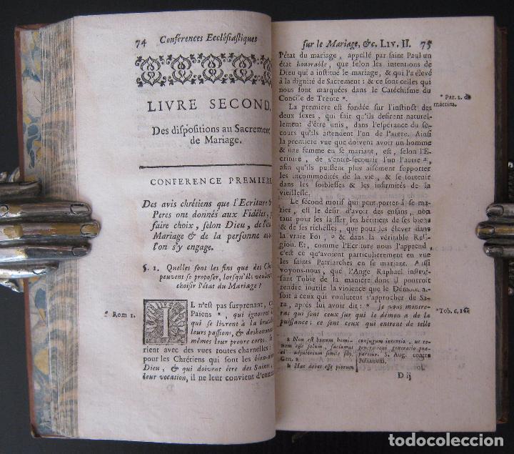 Libros antiguos: 1756 - 5 Tomos del Siglo XVIII - Jurisprudencia, Matrimonio, Derecho Canónico - Libro Antiguos, Piel - Foto 17 - 78252381