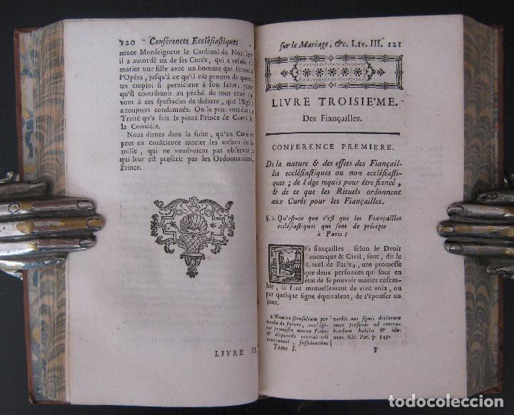 Libros antiguos: 1756 - 5 Tomos del Siglo XVIII - Jurisprudencia, Matrimonio, Derecho Canónico - Libro Antiguos, Piel - Foto 18 - 78252381