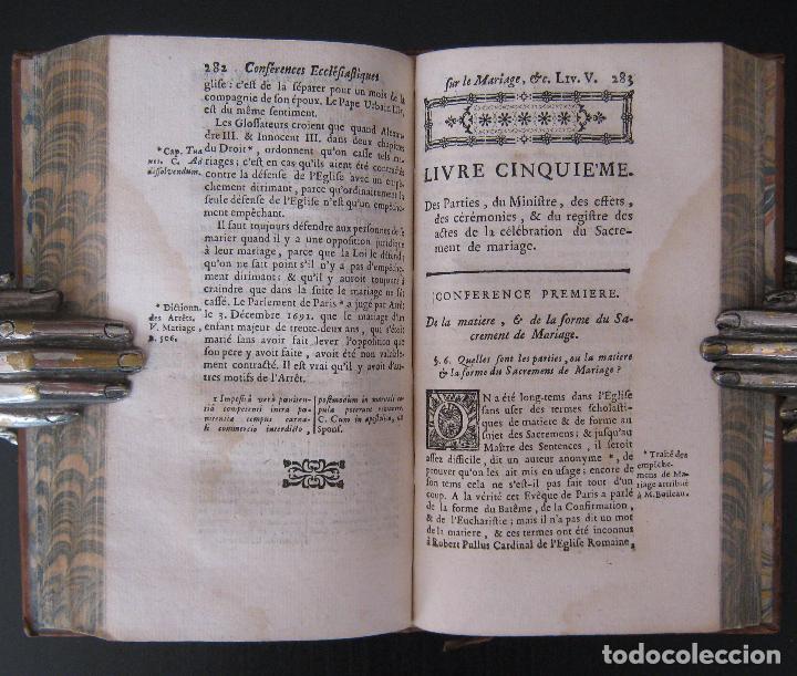 Libros antiguos: 1756 - 5 Tomos del Siglo XVIII - Jurisprudencia, Matrimonio, Derecho Canónico - Libro Antiguos, Piel - Foto 19 - 78252381