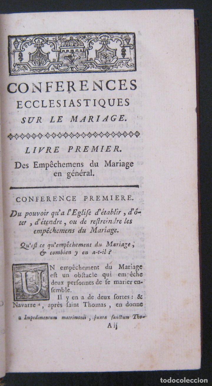 Libros antiguos: 1756 - 5 Tomos del Siglo XVIII - Jurisprudencia, Matrimonio, Derecho Canónico - Libro Antiguos, Piel - Foto 20 - 78252381