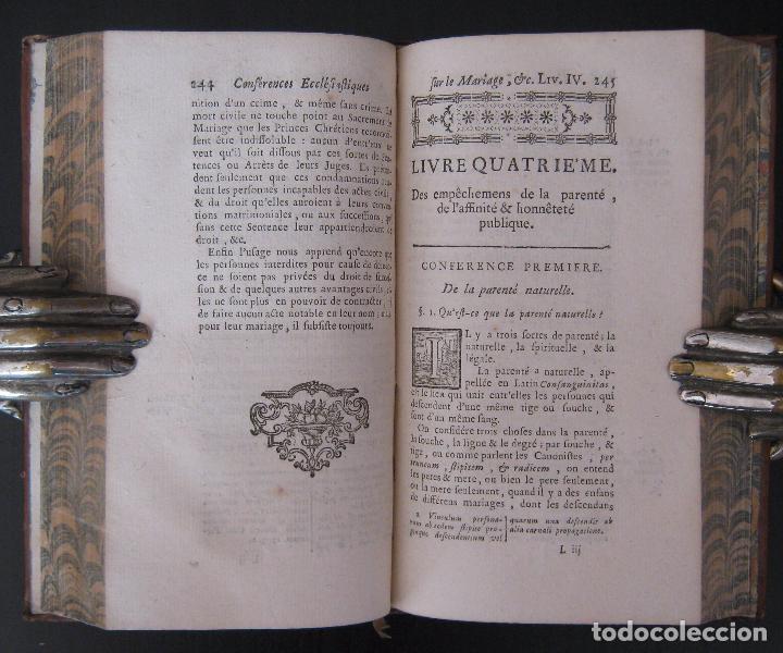 Libros antiguos: 1756 - 5 Tomos del Siglo XVIII - Jurisprudencia, Matrimonio, Derecho Canónico - Libro Antiguos, Piel - Foto 21 - 78252381