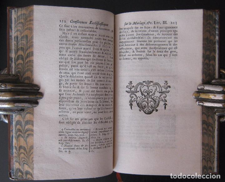 Libros antiguos: 1756 - 5 Tomos del Siglo XVIII - Jurisprudencia, Matrimonio, Derecho Canónico - Libro Antiguos, Piel - Foto 22 - 78252381