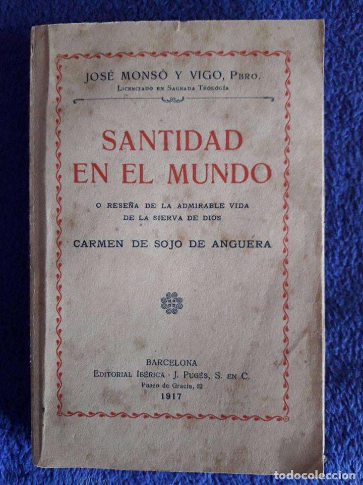 SANTIDAD EN EL MUNDO / JOSÉ MONSÓ Y VIGO / IBÉRICA BARCELONA / 1917 (Libros Antiguos, Raros y Curiosos - Religión)