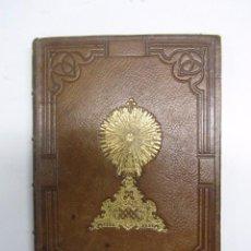 Libros antiguos: CALENDARIO PIADOSO 1871. MAGNIFICA ENCUADERNACION EN PLENA PIEL IMPRESA EN ORO . MADRID DUBRULL 1870. Lote 78533289