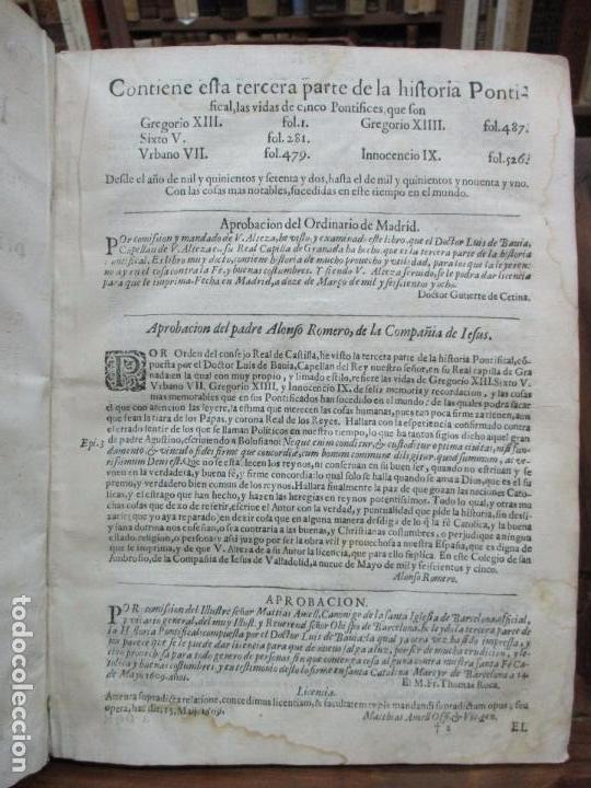 Libros antiguos: TERCERA PARTE DE LA HISTORIA PONTIFICAL Y CATOLICA. LUIS DE BAVIA. 1609. - Foto 4 - 79302801