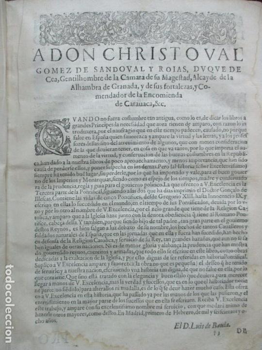 Libros antiguos: TERCERA PARTE DE LA HISTORIA PONTIFICAL Y CATOLICA. LUIS DE BAVIA. 1609. - Foto 5 - 79302801