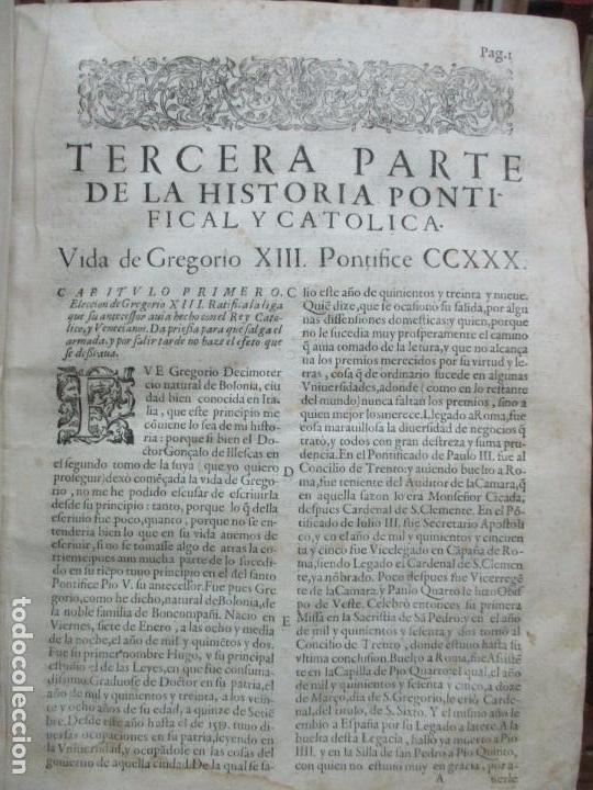 Libros antiguos: TERCERA PARTE DE LA HISTORIA PONTIFICAL Y CATOLICA. LUIS DE BAVIA. 1609. - Foto 6 - 79302801