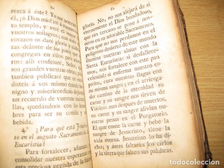 Libros antiguos: libro adoracion del santisimo sacramento o exercicio del voto . 1822 madrid calle carretas - Foto 6 - 79673577