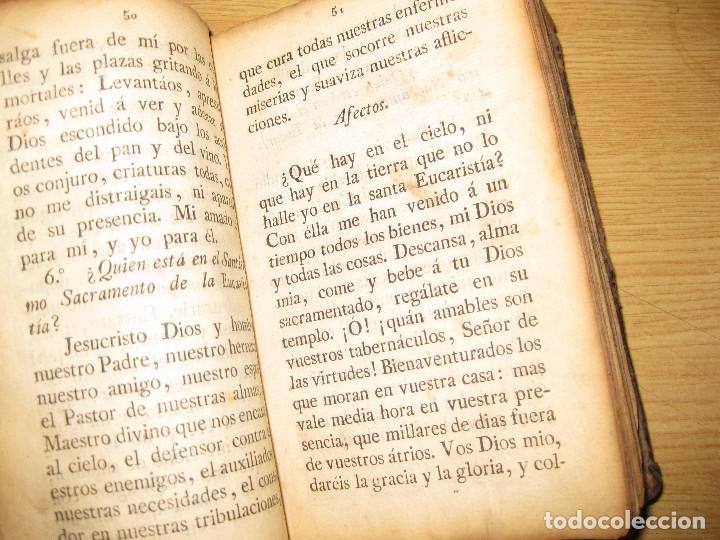 Libros antiguos: libro adoracion del santisimo sacramento o exercicio del voto . 1822 madrid calle carretas - Foto 7 - 79673577