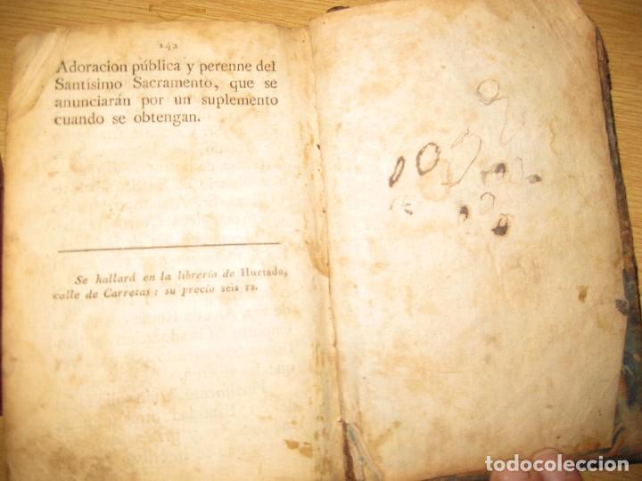 Libros antiguos: libro adoracion del santisimo sacramento o exercicio del voto . 1822 madrid calle carretas - Foto 8 - 79673577