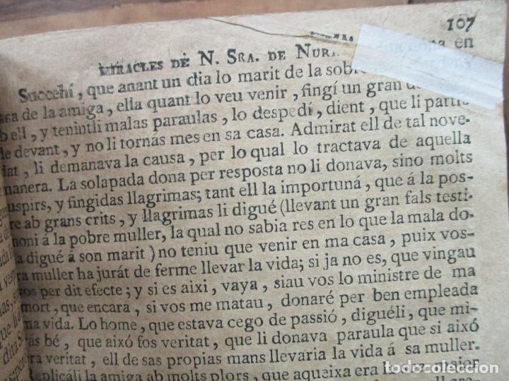 Libros antiguos: HISTORIA, Y MIRACLES DE LA SAGRADA IMATGE DE NOSTRA SENYORA DE NURIA. MARÉS, Francesch. c. 1756. - Foto 5 - 79855577