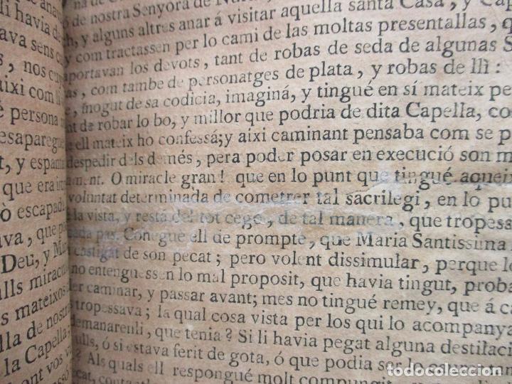 Libros antiguos: HISTORIA, Y MIRACLES DE LA SAGRADA IMATGE DE NOSTRA SENYORA DE NURIA. MARÉS, Francesch. c. 1756. - Foto 6 - 79855577